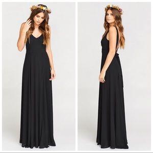 Show My Your MUMU Black Jenn Maxi Bridesmaid Dress